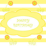 Colorful  greeting happy birthday Royalty Free Stock Image
