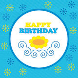Colorful  greeting happy birthday Stock Images