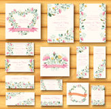 Colorful greeting wedding invitation card Royalty Free Stock Image