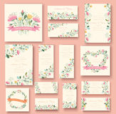 Colorful greeting wedding invitation card Stock Photo