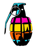 Colorful grenade Royalty Free Stock Photography