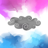 Colorful grey clouds Stock Photo