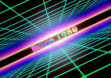 Colorful grid background with text Retro 1980 Royalty Free Stock Photography