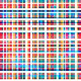 Colorful grid seamless pattern with grunge effect Stock Photography