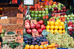 Colorful groceries. At a  market place Royalty Free Stock Image