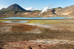 Colorful ground in Namafjall - Iceland Stock Image