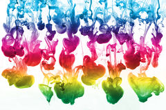 Colorful group of ink Stock Images