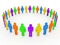 Colorful group of people Stock Image