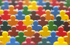 Colorful group of people figures Royalty Free Stock Photo