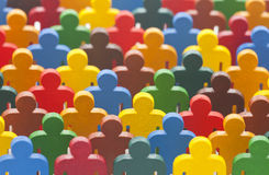 Colorful group of people figures. Colorful painted group of people figures Royalty Free Stock Images