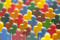 Colorful group of people figures Royalty Free Stock Photography