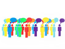 Colorful Group of People Talking in The Social Networking Royalty Free Stock Photography
