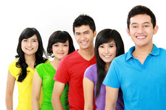 Colorful group of teenager Royalty Free Stock Photos