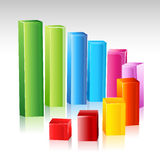 Colorful growing graph Stock Photo