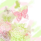 Colorful grunge background with butterfly. Vector Stock Photos