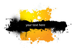 Colorful Grunge Banner Stock Photography