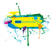 Colorful grunge banner with ink splashes.  Royalty Free Stock Image