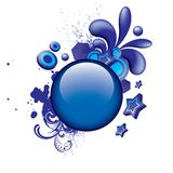 Colorful_grunge_blue_button_3 Lizenzfreie Stockfotografie