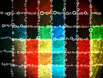 Colorful grunge checkered background Stock Photography