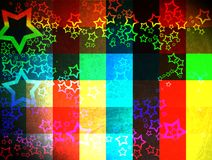Colorful grunge checkered background Royalty Free Stock Image