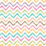 Colorful grunge chevron seamless pattern Stock Photography