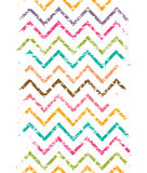 Colorful grunge chevron vertical border seamless Stock Photos