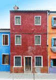 Colorful grunge facades houses Royalty Free Stock Image