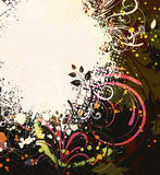 Colorful grunge floral background Stock Photography