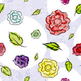 Colorful grunge floral pattern Stock Photography