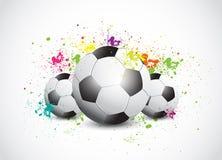 Colorful Grunge Football Stock Image