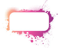 Colorful grunge frame. In purple, pink and yellow colors royalty free illustration