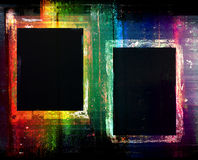 Colorful grunge frames background Royalty Free Stock Photos