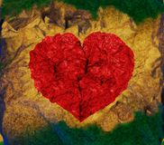 Colorful grunge heart Royalty Free Stock Photography