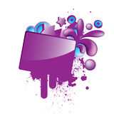 Colorful_grunge_purple_button Lizenzfreies Stockfoto