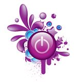 Colorful_grunge_purple_button_2 Lizenzfreie Stockfotos