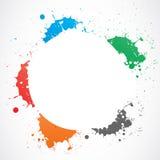 Colorful grunge splash circle Royalty Free Stock Image
