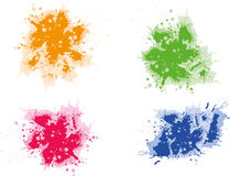Colorful grunge splats Stock Photography