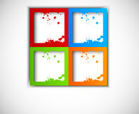 Abstract background with grunge squares. Colorful grunge squares. Abstract illustration Royalty Free Stock Images