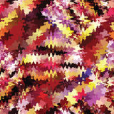 Colorful grunge stained seamless pattern Stock Photo