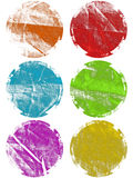 Colorful grunge textured web elements isolated Royalty Free Stock Image