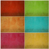 Colorful grunge wall set Stock Photography