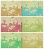 Colorful grunge wall set Stock Photo
