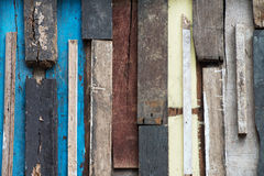 Colorful grunge wooden wall Royalty Free Stock Photos