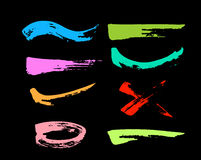 Colorful grungy. Abstract hand-painted brush stroke Stock Image
