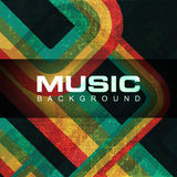 Colorful grungy musical background. Stock Photography