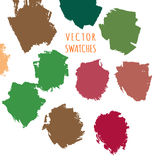 Colorful grungy swatches Stock Image