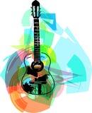 Colorful guitar illustration Stock Photo