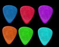 Colorful Guitar picks Stock Images