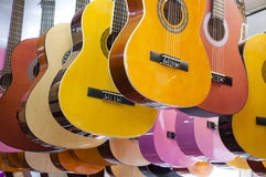 Colorful guitars Royalty Free Stock Photos