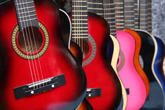 Colorful Guitars Royalty Free Stock Images